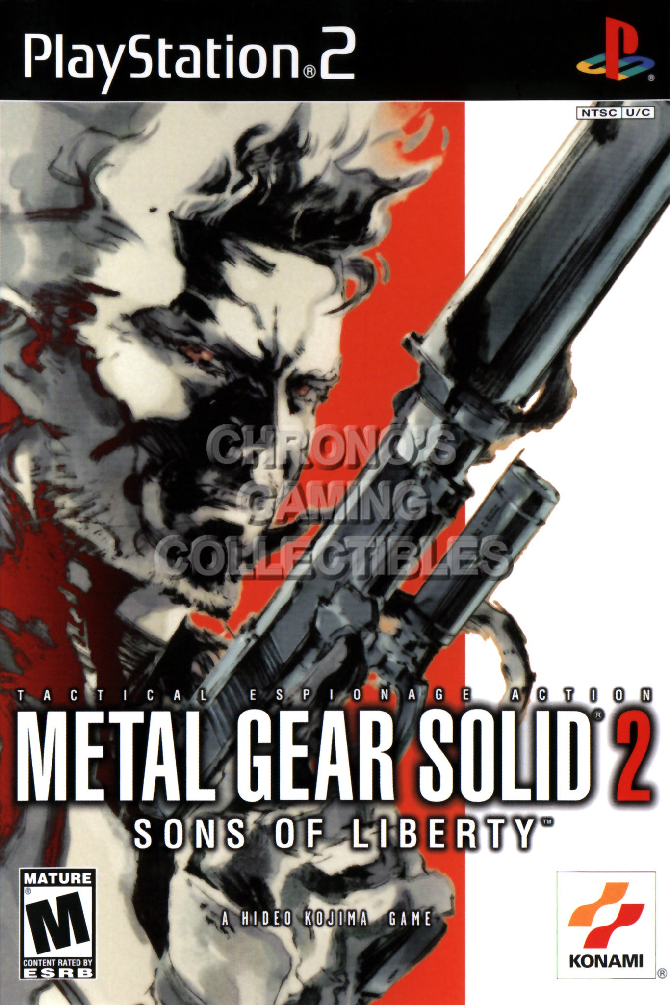 CGC Huge Poster - Metal Gear Solid 2 Sons of Liberty - BOX ART Sony  Plastation 2 PS2 - PS2199