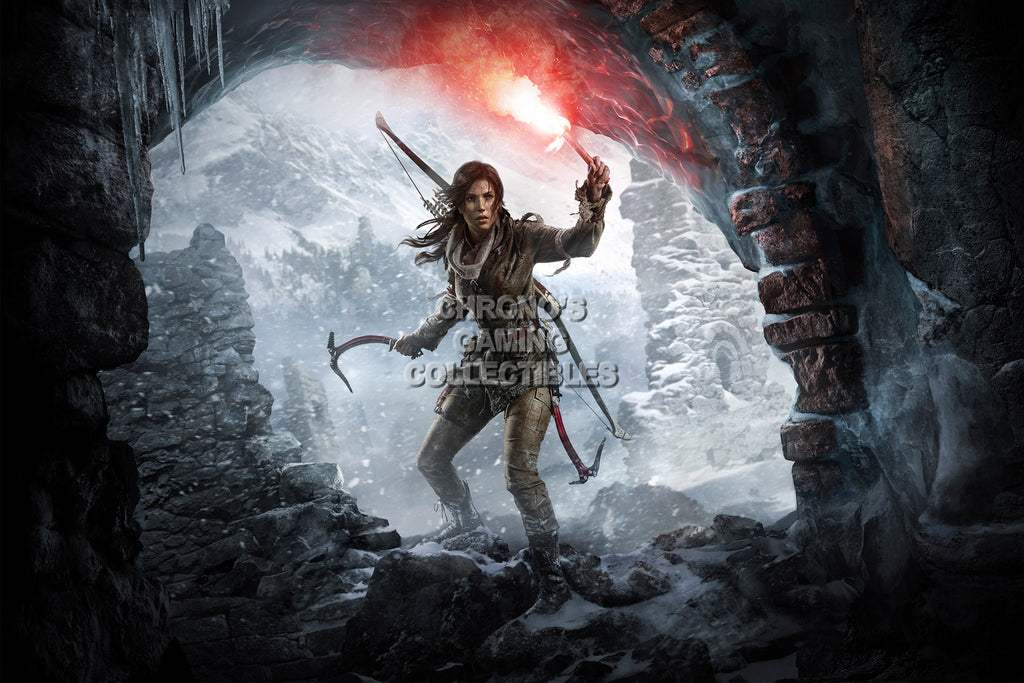 CGC Huge Poster - Rise of The Tomb Raider Lara Croft Textless - XBOX ONE PS4 PC - TOM023
