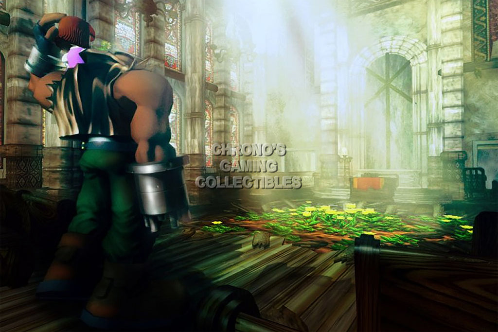 CGC Huge Poster - Final Fantasy VII Barret Wallace PS1 PSP - FVII013
