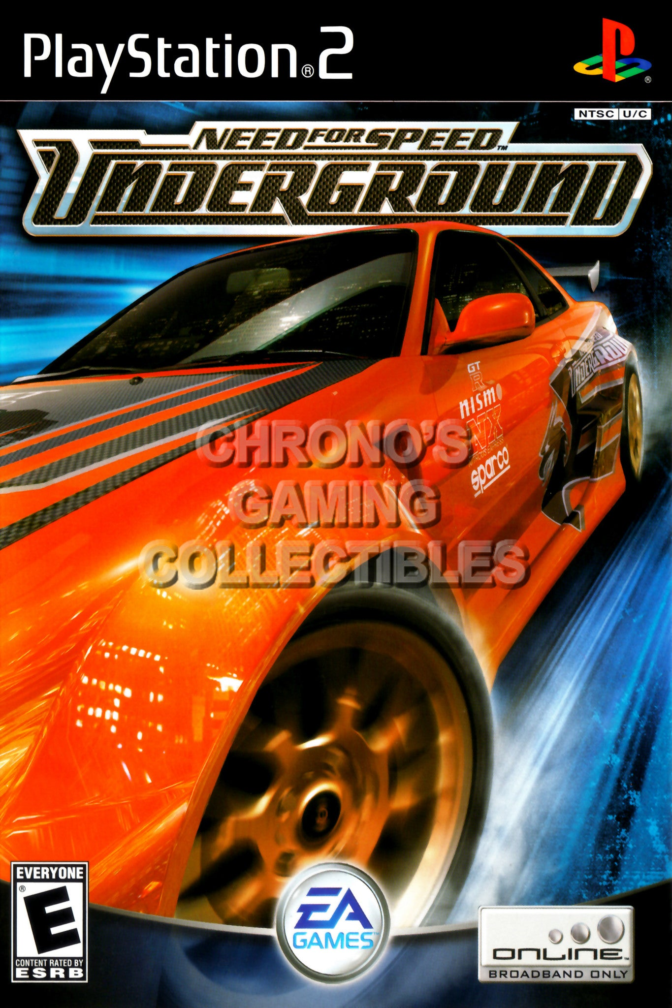 CGC Huge Poster - Need for Speed Underground - BOX ART Sony Plastation 2  PS2 - PS2227