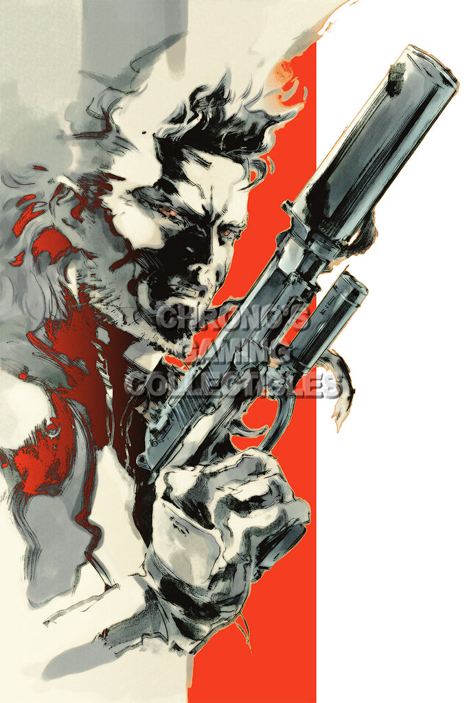CGC Huge Poster - Metal Gear Solid 2 PS2 PS3 - MGS201
