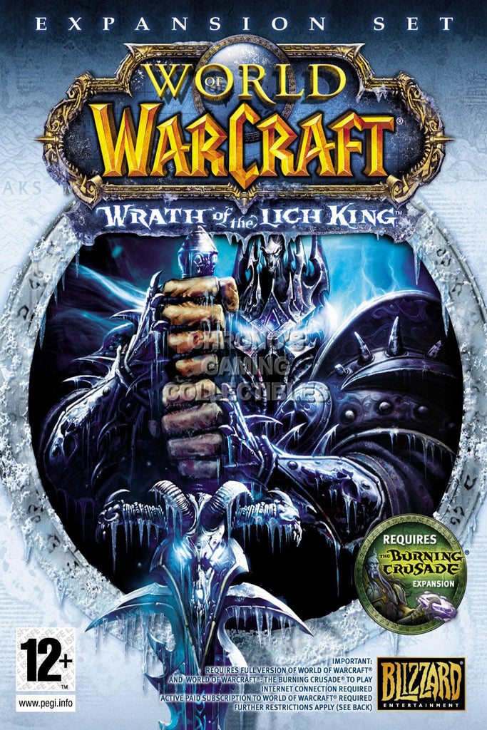 CGC Huge Poster - World of Warcraft Wrath of Lich King BOX ART PC - EXT182