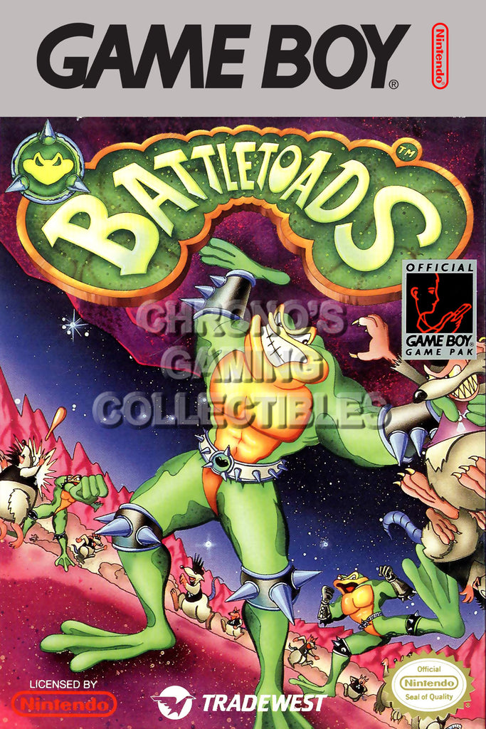 CGC Huge Poster - Battletoads Original Nintendo Gameboy Box Art - GBO002