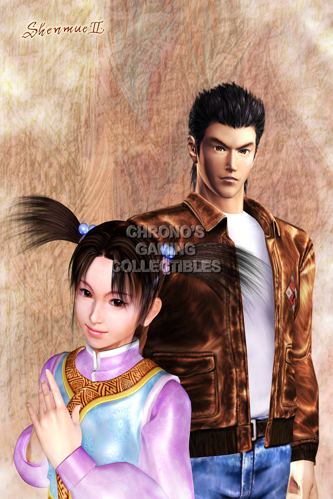 CGC Huge Poster - Shenmue II Ryo and Fangmei Dreamcast Xbox - SHE002