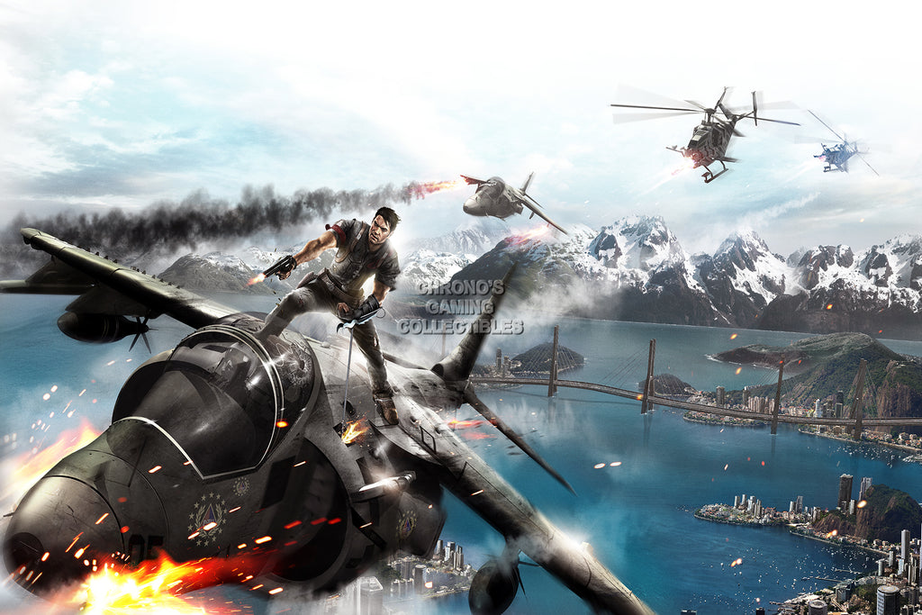 CGC Huge Poster - Just Cause 2 Rico PS3 XBOX 360 PC - JUS004