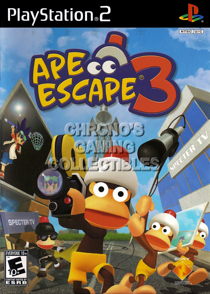CGC Huge Poster - Ape Escape 3 - BOX ART Sony Plastation 2 PS2 - PS2012