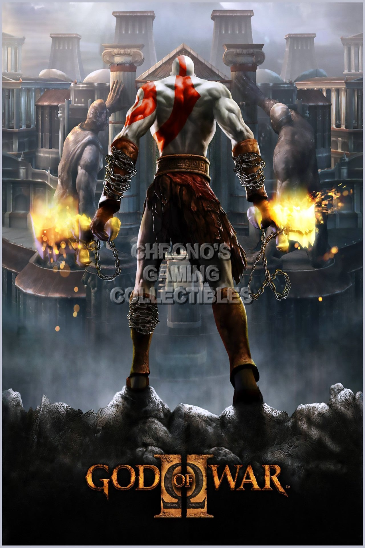 CGC Huge Poster - God of War II Cover Sony PS2 PS3 PS4 PSP Vita - GOW044