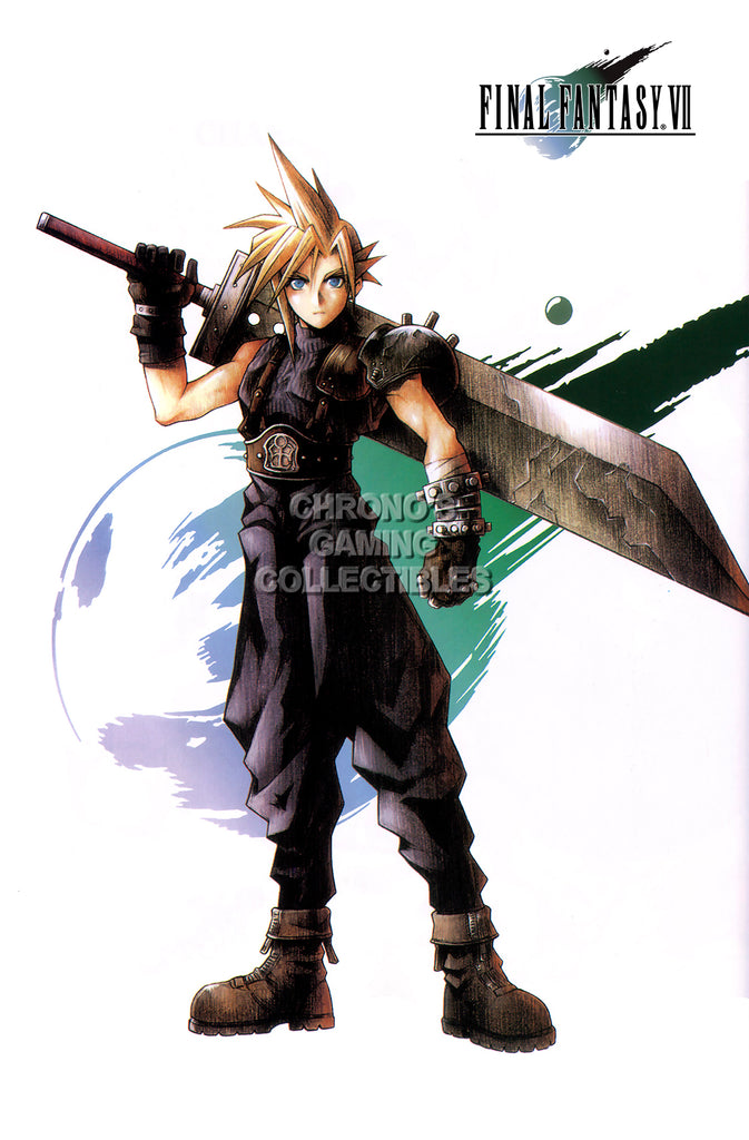 CGC Huge Poster GLOSSY FINISH - Final Fantasy VII Cloud Strife Sony PS1 PS2 PS3 PS4 PSP - EXT037