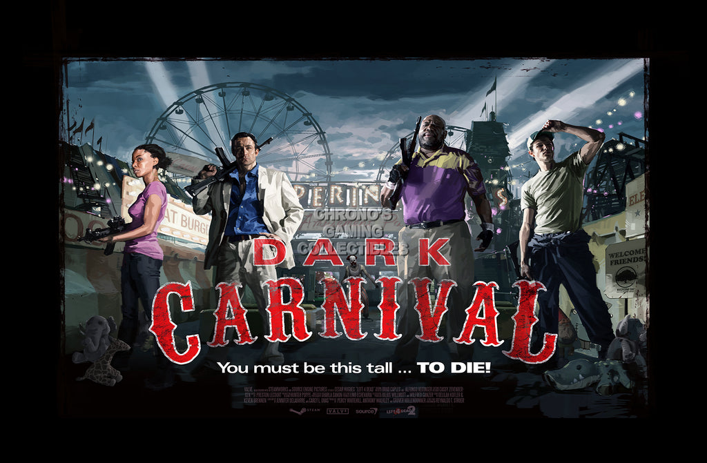 CGC Huge Poster - Left 4 Dead 2 Dark Carnival XBOX 360 PC - L4D004