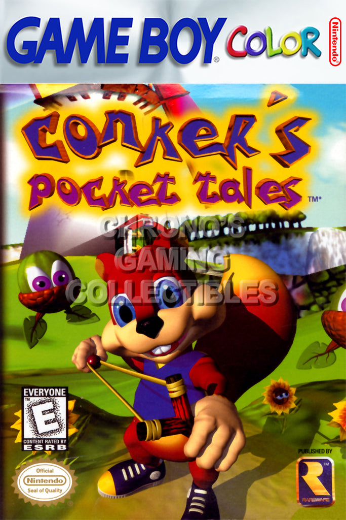 CGC Huge Poster - Conker's Pocket Tales Nintendo Game Boy Color GBC BOX ART - GBC007