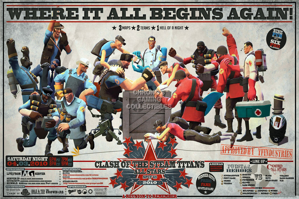 CGC Huge Poster - Team Fortress 2 Clash of the Titan - TF2003