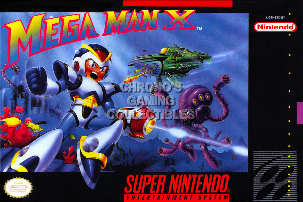 CGC Huge Poster - Mega Man X Super Nintendo SNES Box Art - MMA008