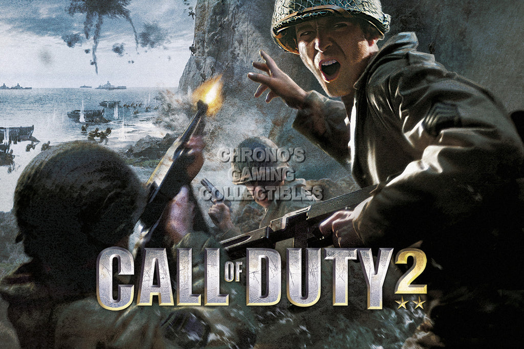 CGC Huge Poster - Call of Duty 2 Sony Playstation PS2 - COD006