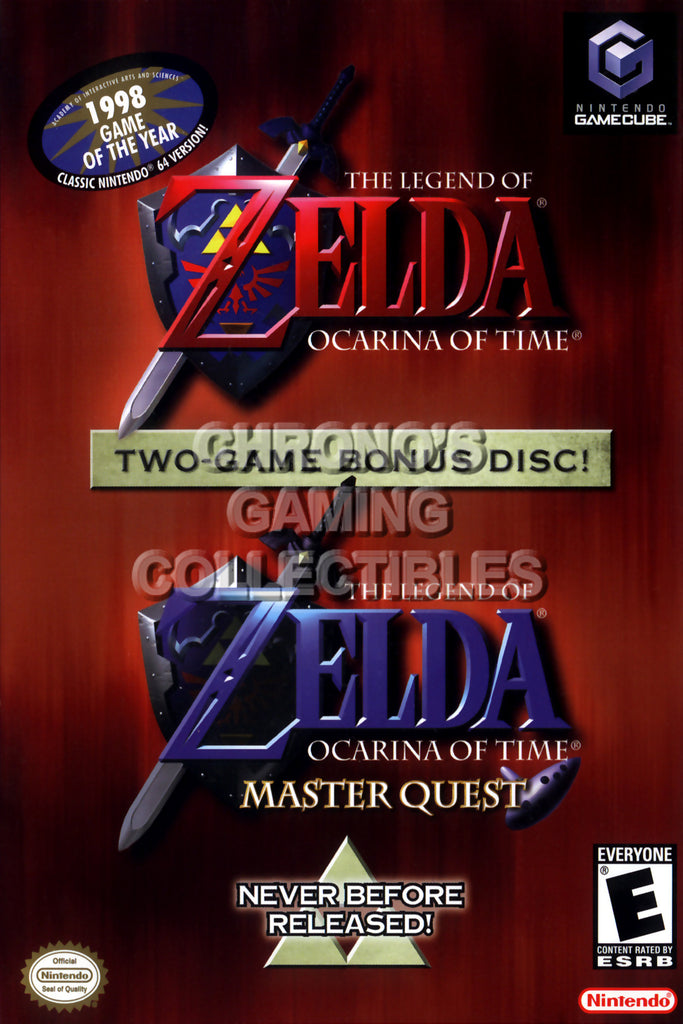 CGC Huge Poster - Legend of Zelda Ocarina of Time Master - Nintendo GameCube GC - NGC024