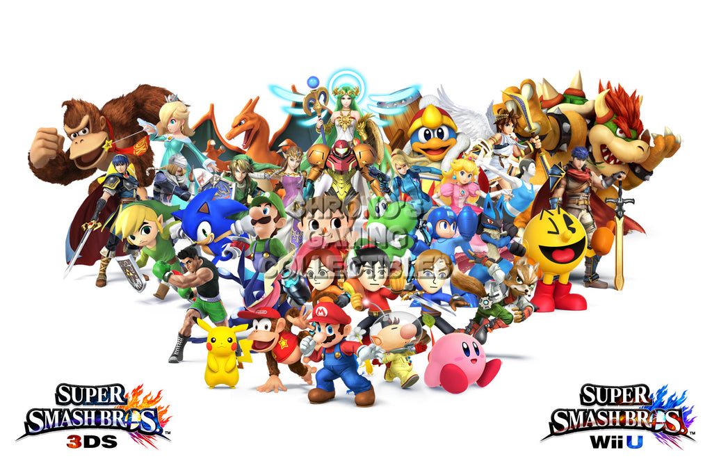 CGC Huge Poster - Super Smash Bros. Wii U 3DS Characters 2 - SMA021