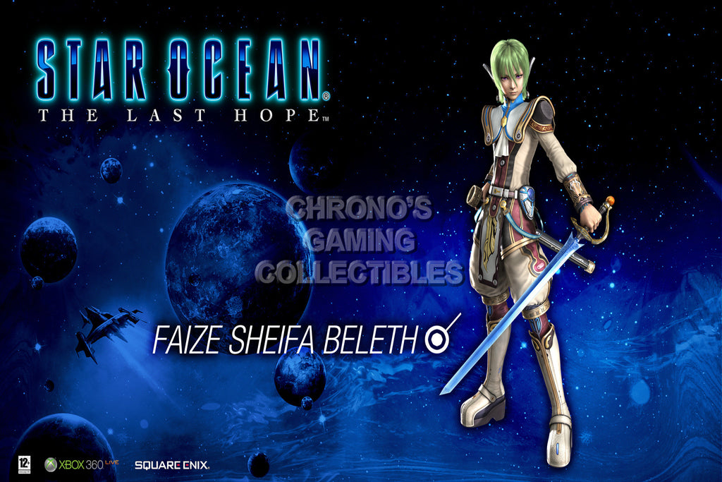 CGC Huge Poster - Star Ocean The Last Hope Faize PS1 PS2 PS3 PSP - STAR07