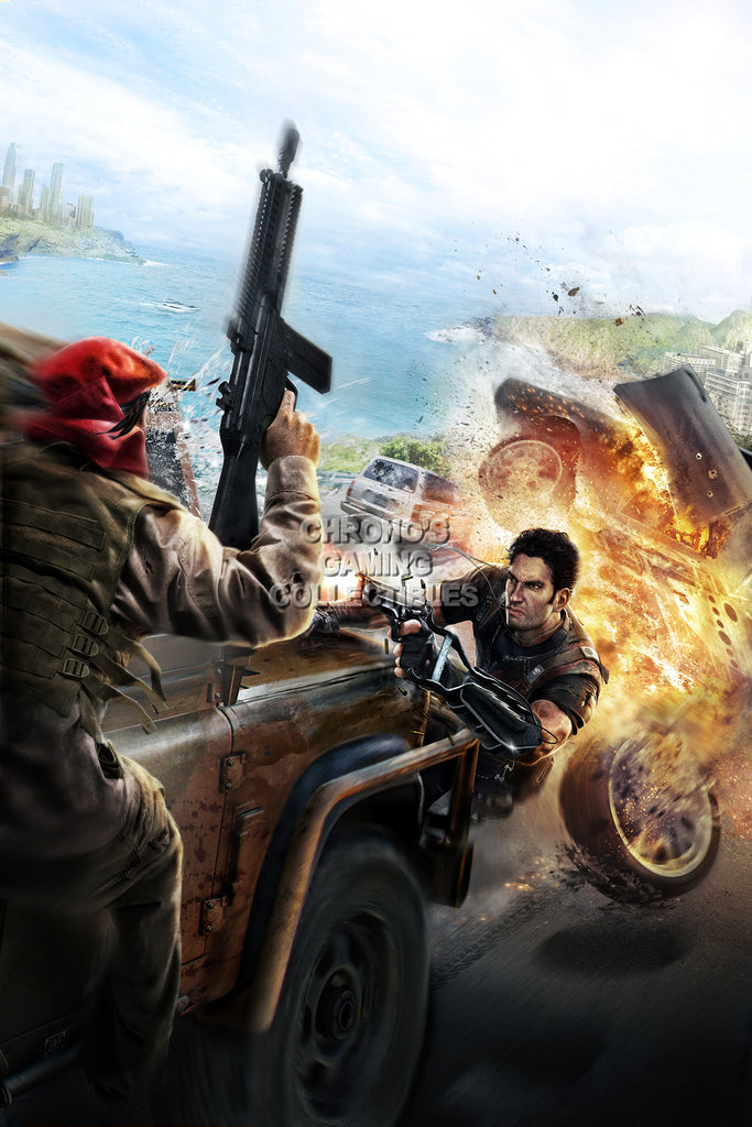 CGC Huge Poster - Just Cause 2 Rico PS3 XBOX 360 PC - JUS002