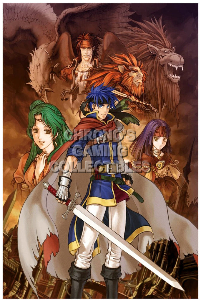 CGC Huge Poster - Fire Emblem Path of Radiance Nintendo GameCube - FEM014