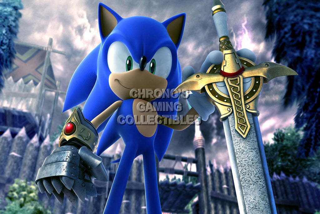 CGC Huge Poster - Sonic and the Black Knight Nintendo Wii - SON018