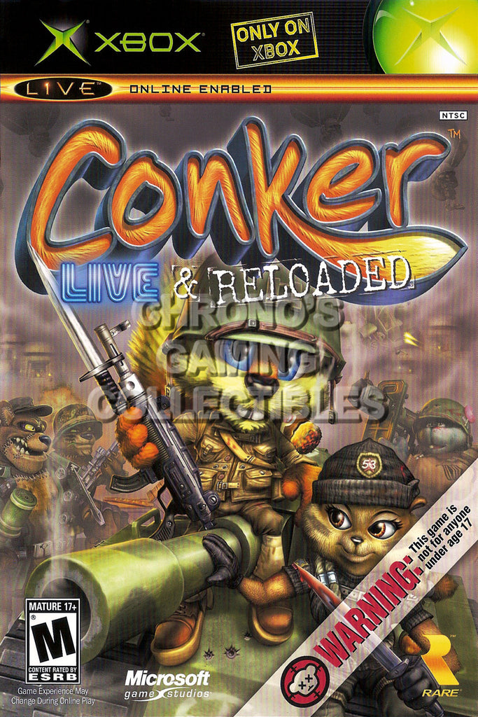 CGC Huge Poster - Conker Live and Reloaded BOX ART - Original XBOX - XBX021