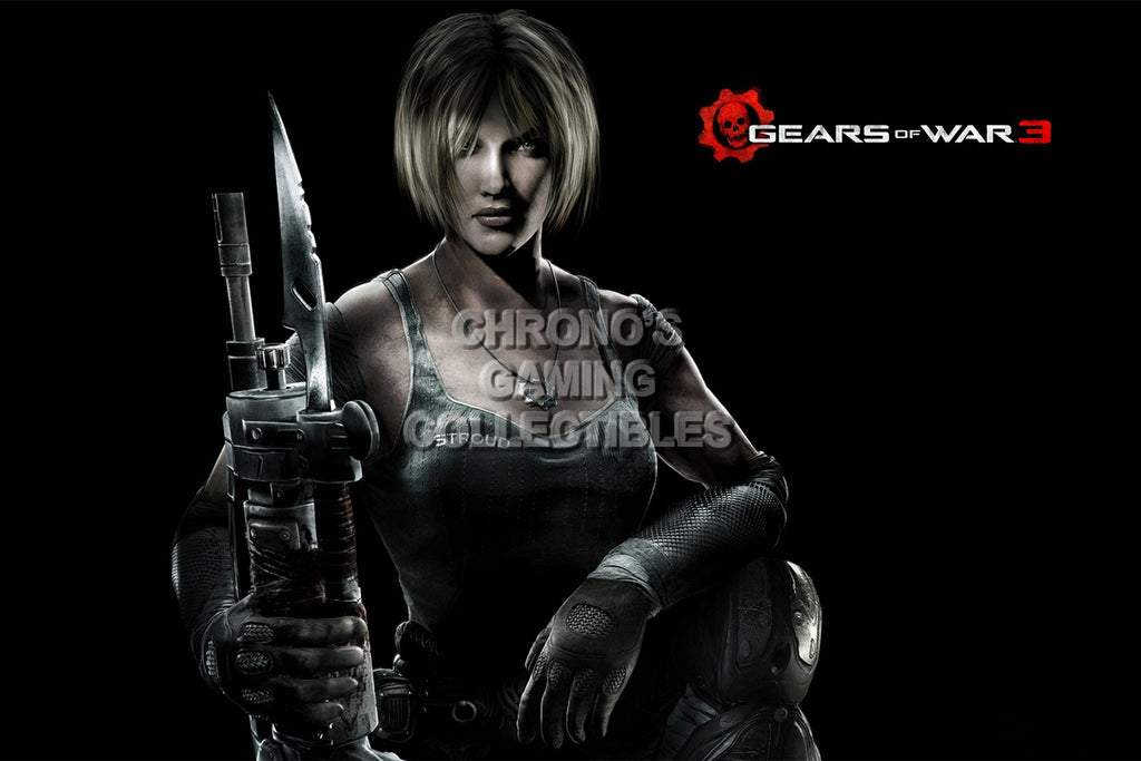 CGC Huge Poster - Gears of War 3 Anya XBOX 360 - GAS013