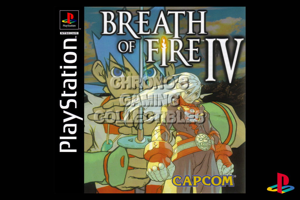 CGC Huge Poster - Breath of Fire IV - Playstation PS1 PSX - PSX010