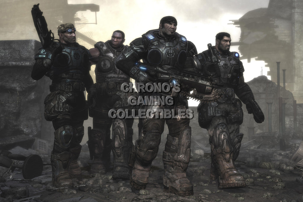 CGC Huge Poster - Gears of War Delta Squad XBOX 360 - GAS004