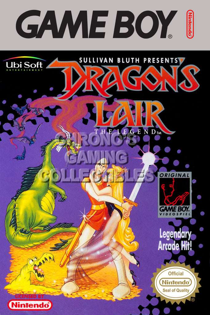 CGC Huge Poster - Dragon's Lair The Legend Original Nintendo Gameboy Box Art - GBO015