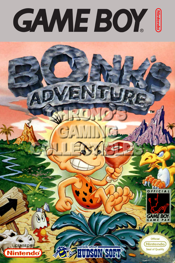 CGC Huge Poster - Bonk's Adventure Original Nintendo Gameboy Box Art - GBO004