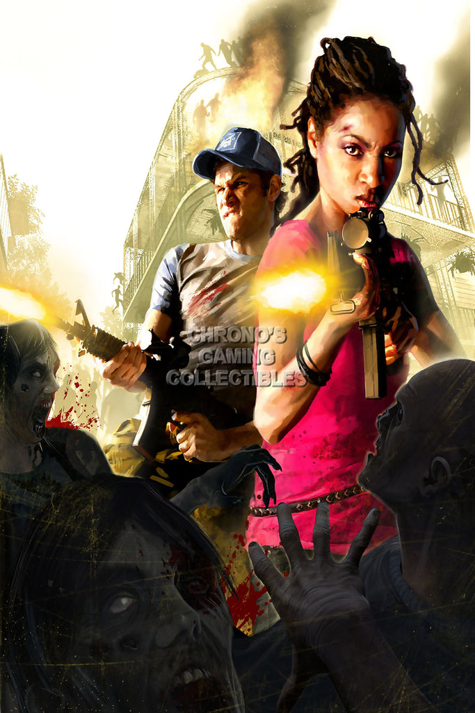 CGC Huge Poster - Left 4 Dead 2 XBOX 360 PC - L4D010
