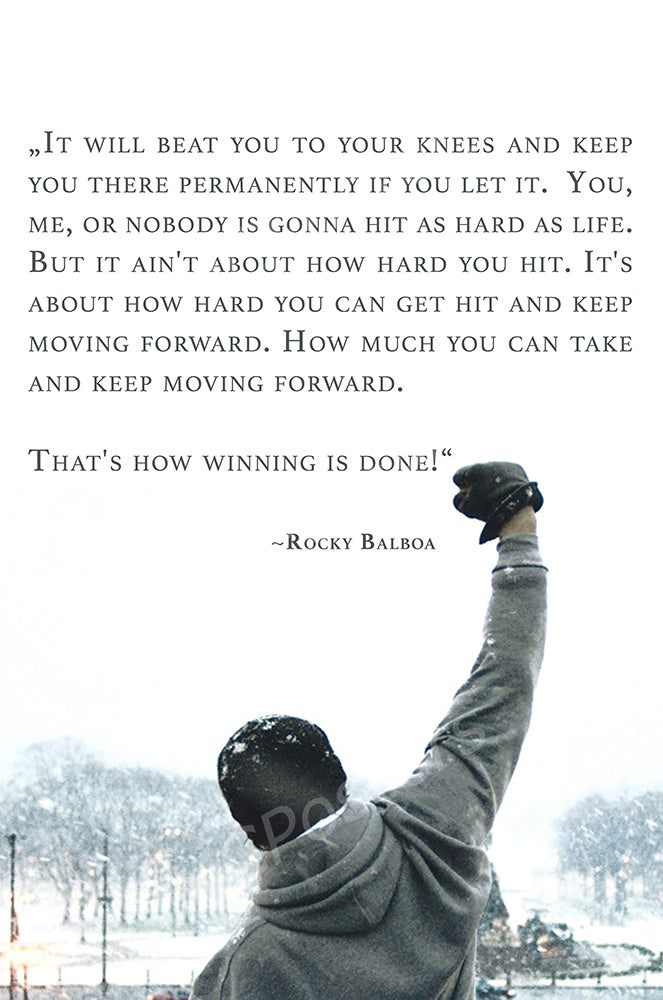 MCPosters - Rocky Quote I II III IV V GLOSSY FINISH Movie Poster  - MCP911