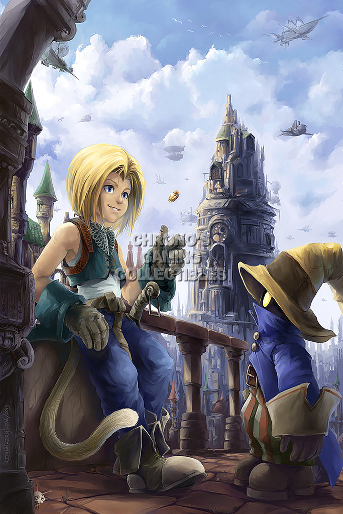 CGC Huge Poster - Final Fantasy IX Zidane and Vivi PS1 PS2 PS3 PSP Vita - FIX010