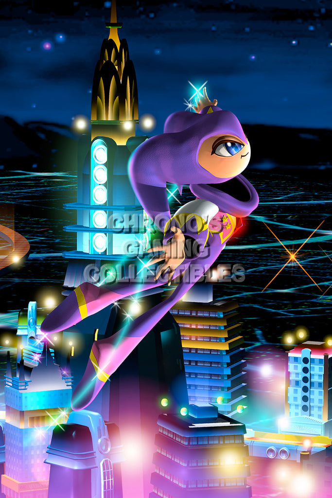CGC Huge Poster - Nights into Dreams Sega Saturn - SST008