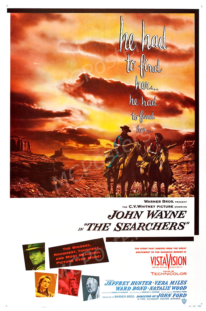 MCPosters - The Searchers John Wayne GLOSSY FINISH Movie Poster - MCP918