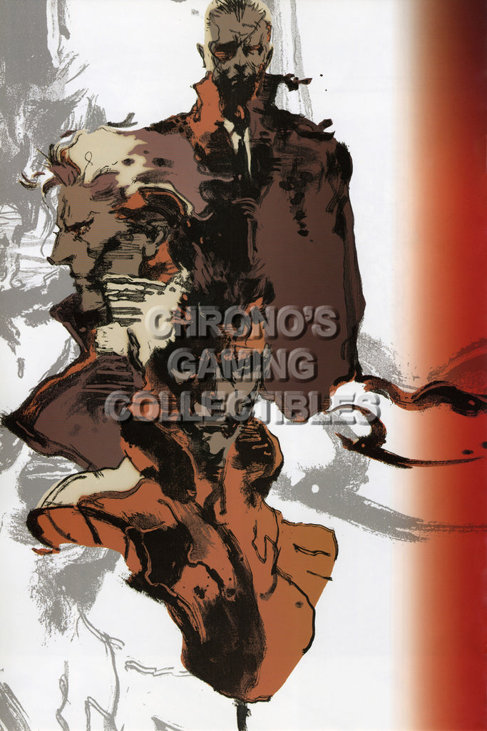 CGC Huge Poster - Metal Gear Solid PS1 Nintendo GC - Art - MGS116
