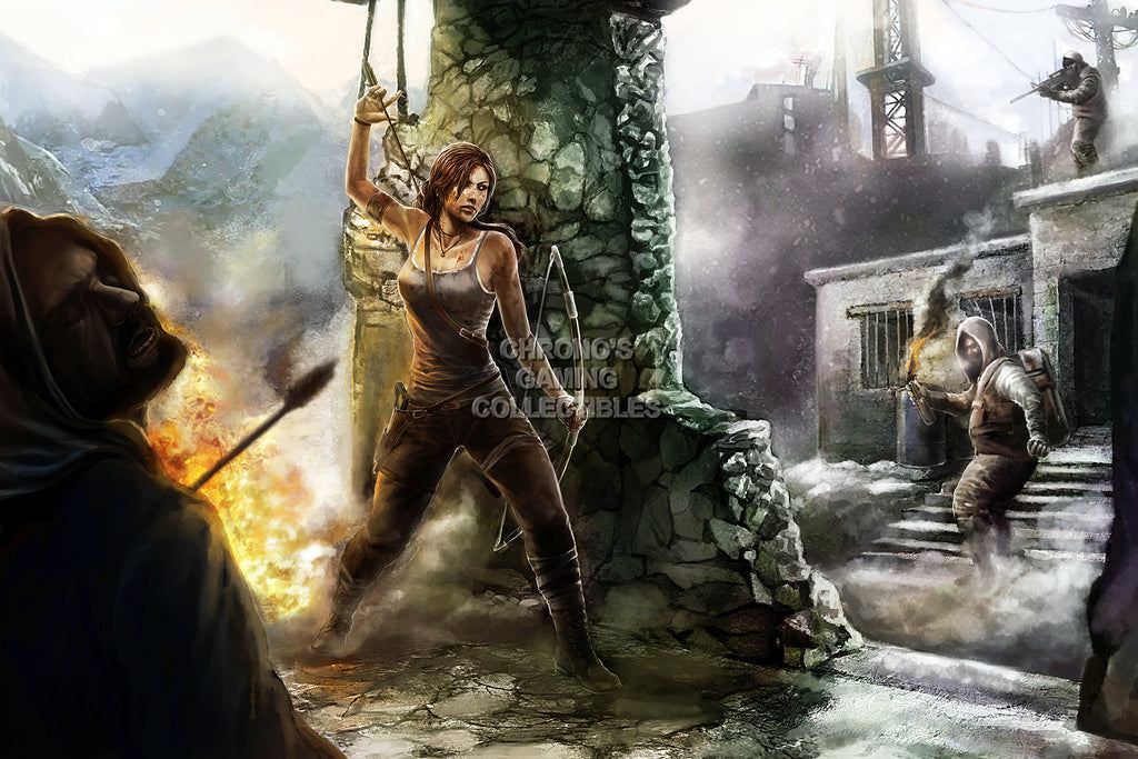 CGC Huge Poster - Rise of The Tomb Raider Lara Croft - XBOX ONE PS4 PC - TOM026
