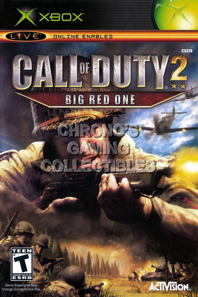 CGC Huge Poster - Call of Duty 2 Big Red One BOX ART - Original XBOX - XBX015