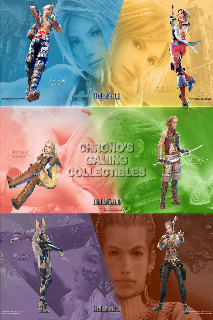 CGC Huge Poster - Final Fantasy XII All Characters PS2 - FXII002