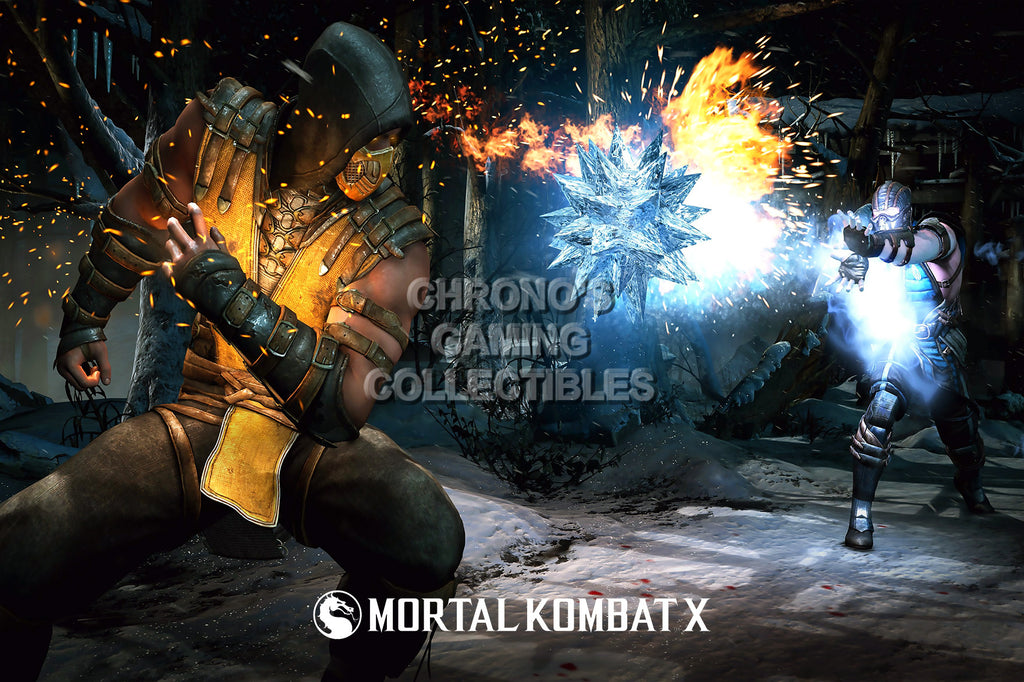 CGC Huge Poster - Mortal Kombat X Fire Vs Ice PS3 PS4 XBox 360 One - MKX058