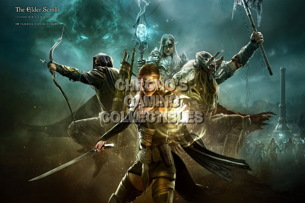 CGC Huge Poster - Elder Scrolls Online XBOX 360 ONE PS3 PS4 - EDS022