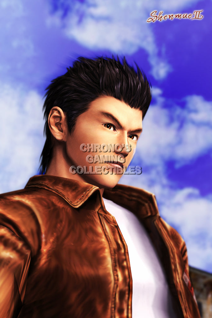 CGC Huge Poster - Shenmue II Ryo Dreamcast Xbox - SHE005