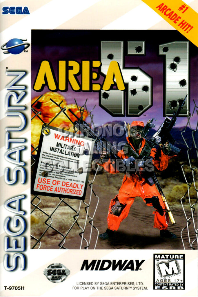 CGC Huge Poster - Area 51 BOX ART - Sega Saturn  - SAT004