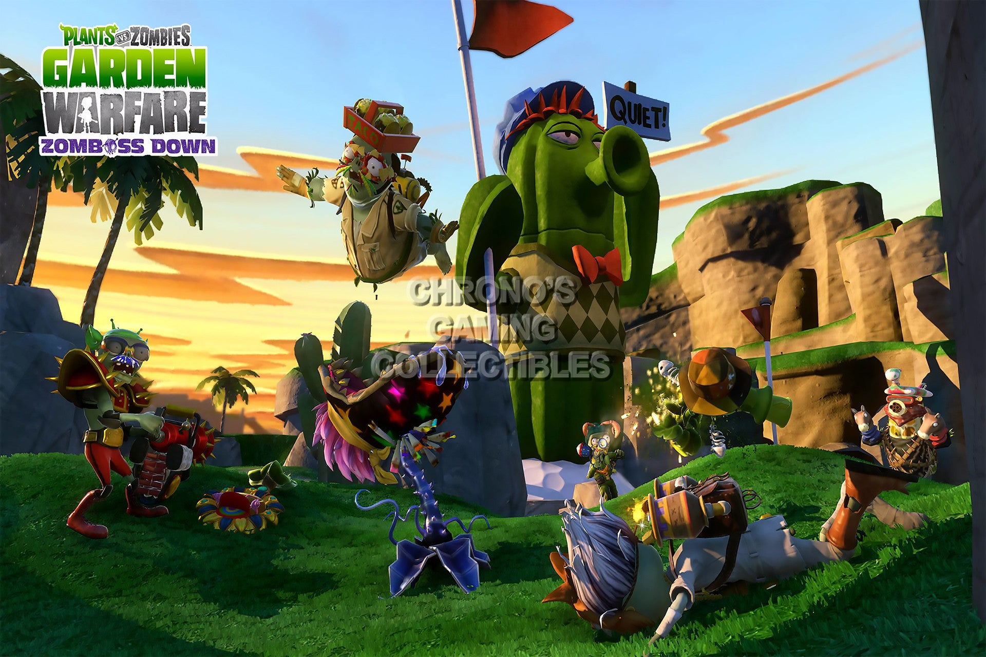 cgc huge poster plant vs zombies garden warfare ps3 ps4 xbox 360 one pvz004 - Plants Vs Zombies Garden Warfare Xbox 360