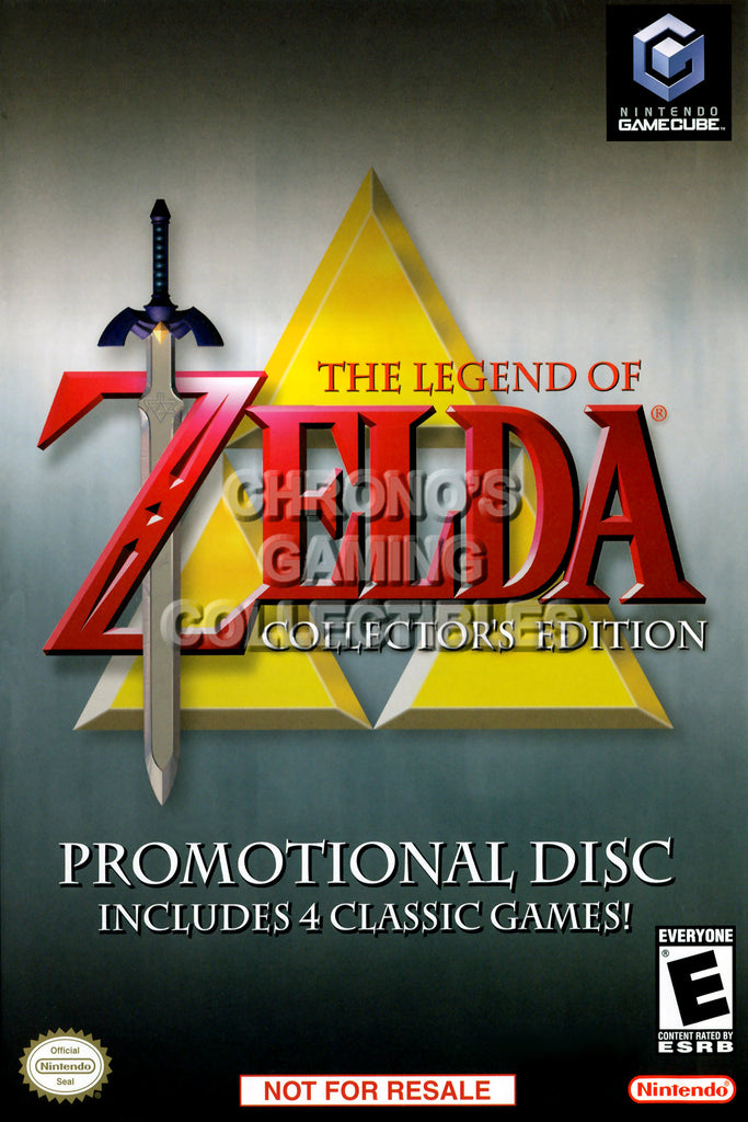 CGC Huge Poster - Legend of Zelda Collector's Edition - Nintendo GameCube GC - NGC023