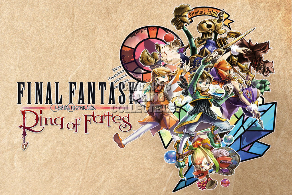 CGC Huge Poster - Final Fantasy Crystal Chronicles Rings of Fate Nintendo GameCube Wii DS - FCC005