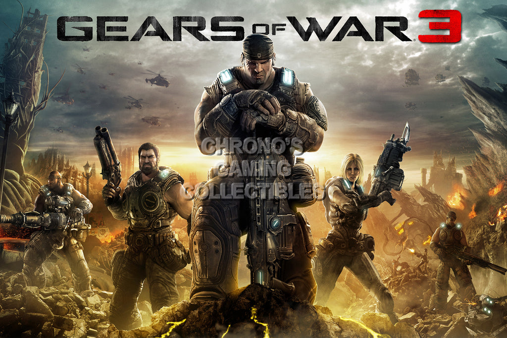 CGC Huge Poster - Gears of War 3 XBOX 360 - GAS016
