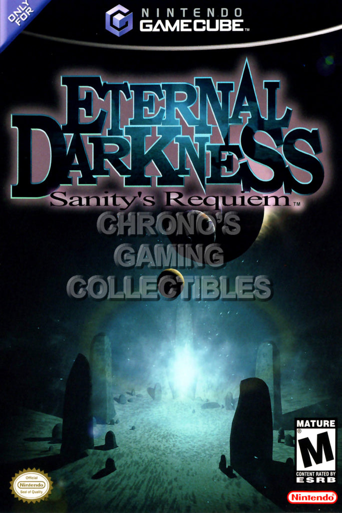 CGC Huge Poster - Eternal Darkness Sanity's Requiem BOX ART - Nintendo GameCube GC - NGC012