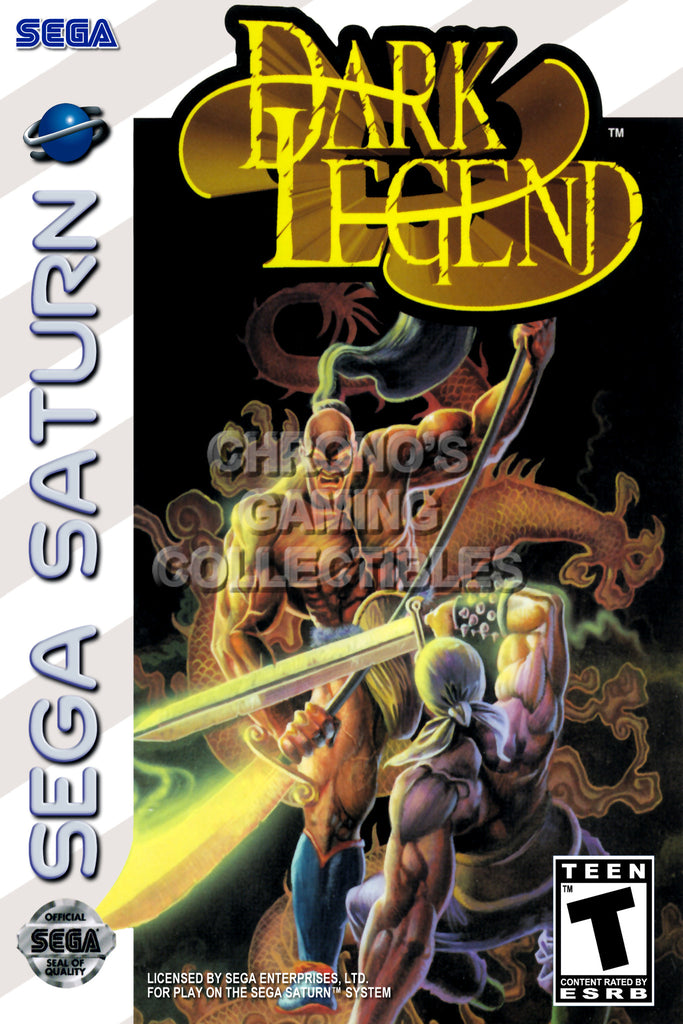 CGC Huge Poster - Dark Legend BOX ART - Sega Saturn  - SAT019