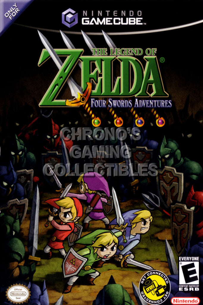 CGC Huge Poster - Legend of Zelda Four Swords Adventures - Nintendo GameCube GC - NGC027