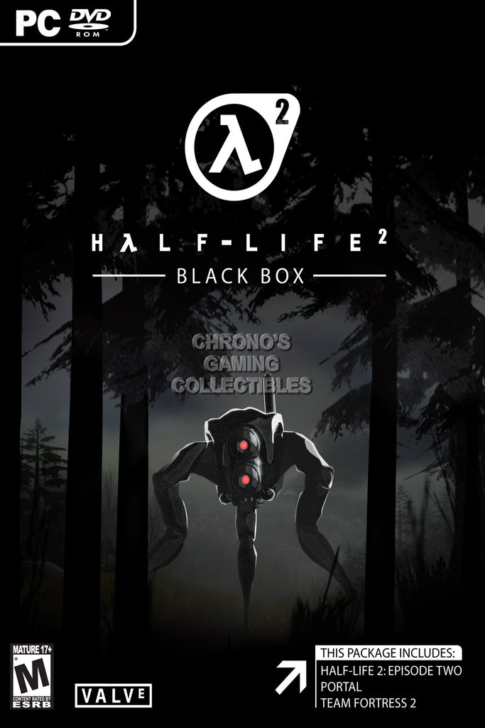 CGC Huge Poster - Half Life Black Box - PS3 XBOX 360 PC - HLI002